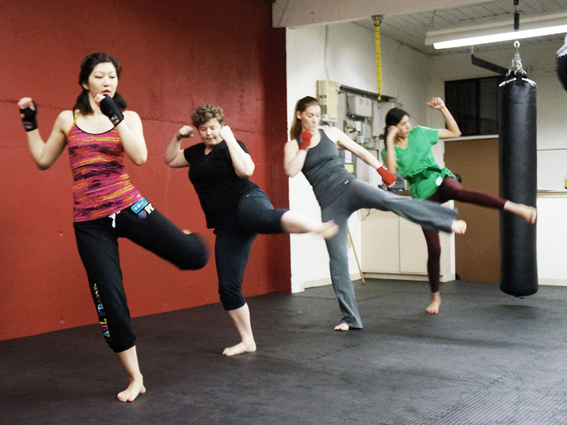 fresno women kickboxing classes