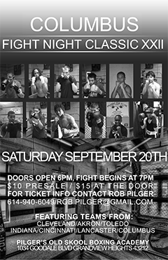 Columbus Fight Night Classic Sept 20th