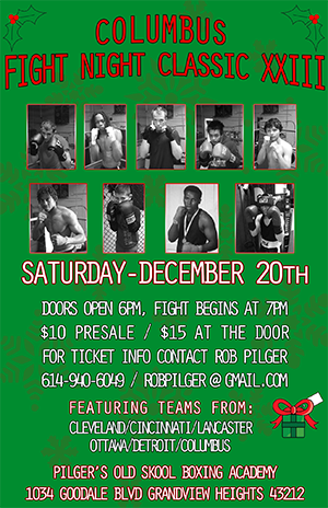 Columbus Fight Night Classic XXIII Saturday, Dec 20th