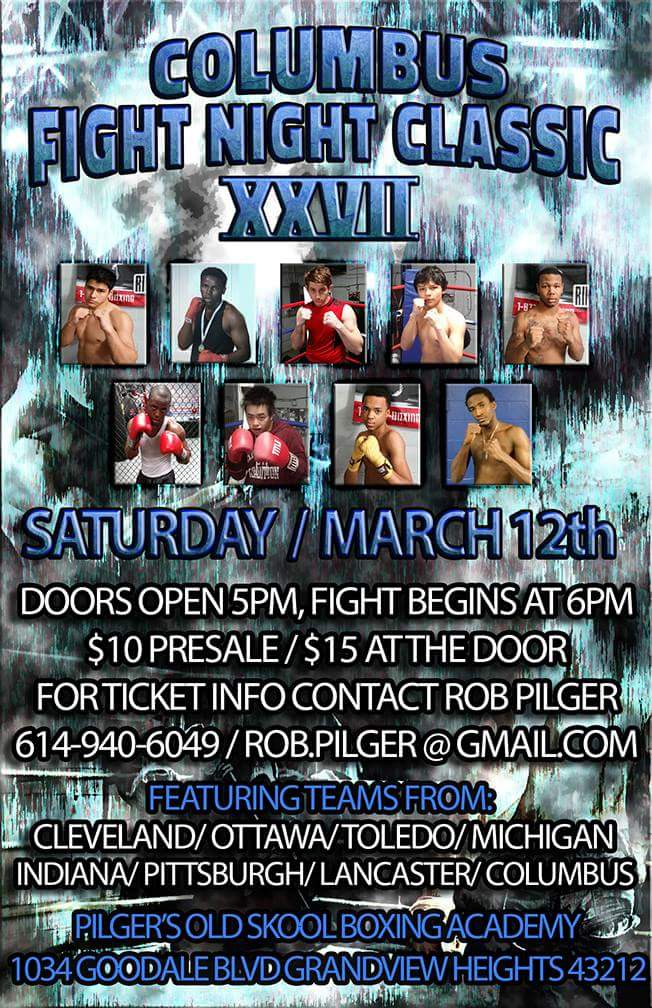 Columbus Fight Night Classic XXVII Saturday, March 12th